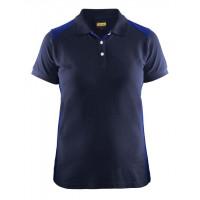 Women's polo shirt 3390, navy blue/cornflower blue, size M