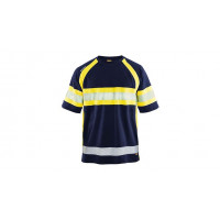 Hi-vis T-shirt 3337, navy blue/yellow, size L