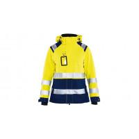 Women's hi-vis shell jacket 4904, yellow/navy blue, size M