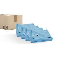 Quick&Bright microfibre cloth, blue, 40 x 40cm, sales unit = 200 pieces