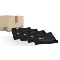 Promotion package QUICK&BRIGHT microfibre cloth, black, 40 x 40 cm, sales unit = 200 pieces